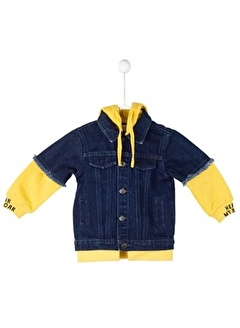Silversun Kids Koyu Yakalı Kağşonlu Cepli Önden Düğmeli Uzun Kol Bebek Erkek Mont Mc 115075